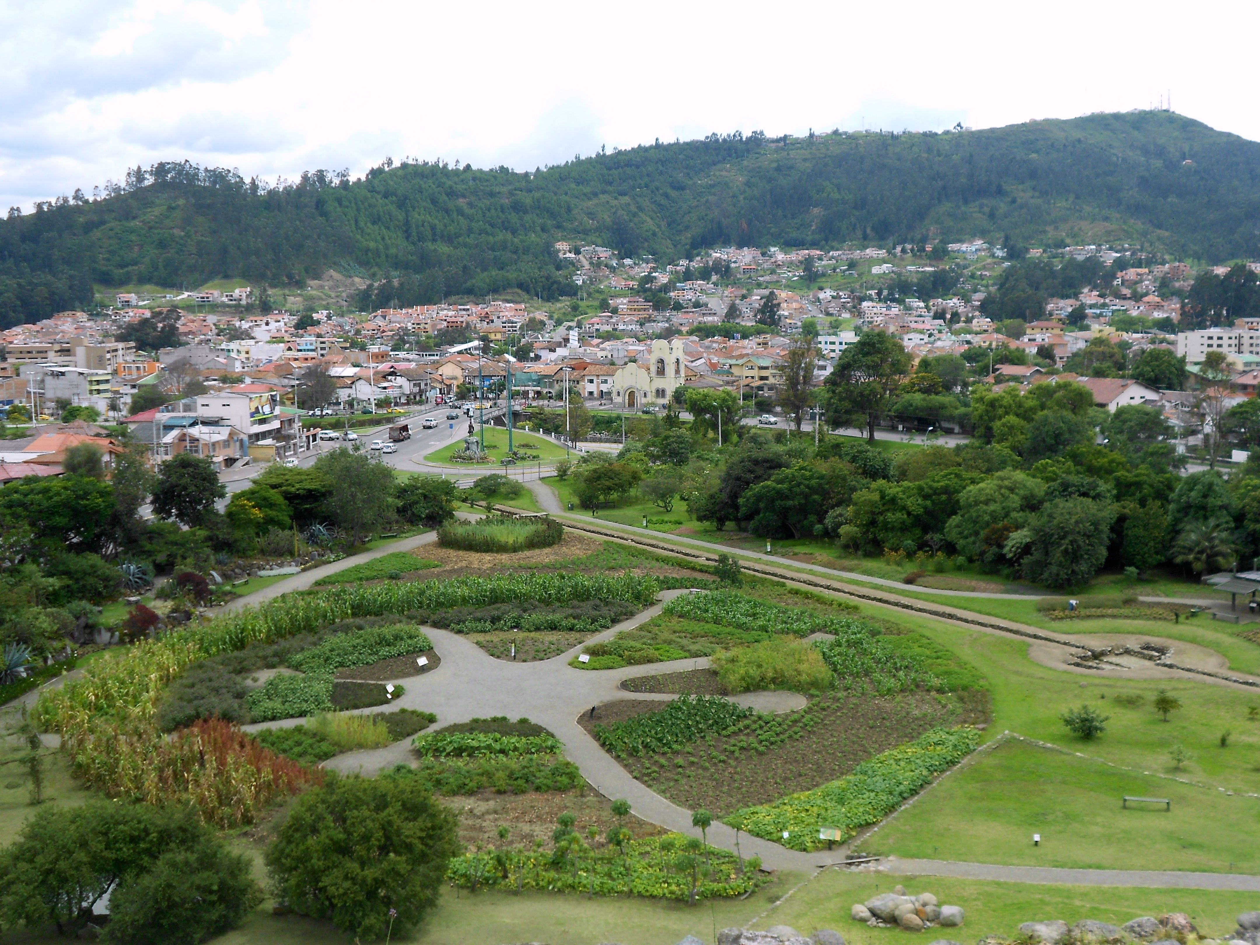Cuenca from atop the Inca ruins that overlook the valley.