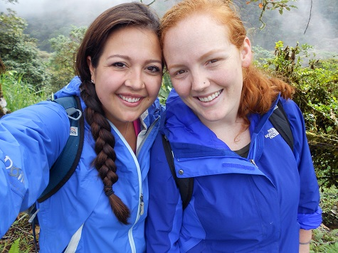Me and Nora, my traveling buddy, on our 2-month backpacking trip through part of South America, 2013