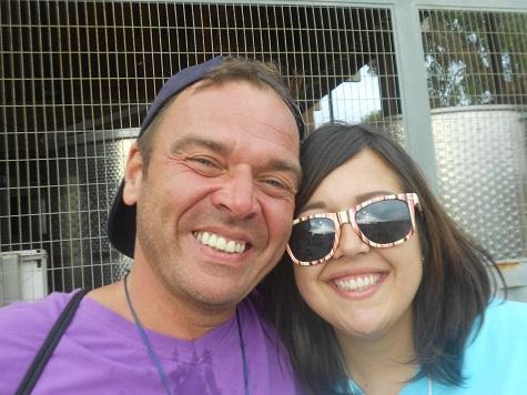 Mark and I at the Hash / April 2013