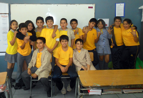 One of my fifth-sixth grade classes / April 2013
