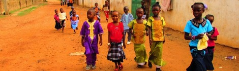 "Children out collecting ""salibo."""
