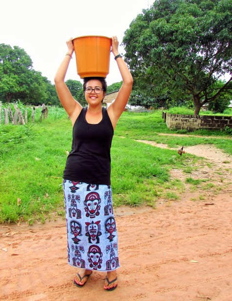 Fetching water.