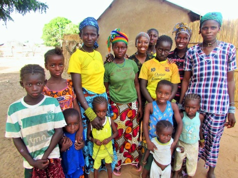 People in the village who begged me to take their photo. Habbie, always smiling, is in the center.